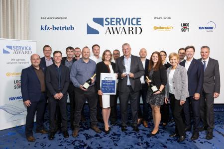 Orth Automobile gewinnt den Service Award 2018 (Foto: S. Bausewein / Vogel Communications Group)
