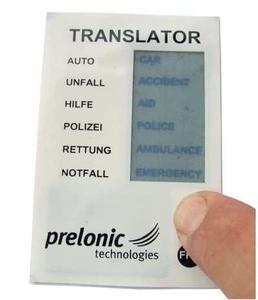 Der neueste Prototyp: Übersetzer Modul zeigt Ausdrücke in Englisch oder Französisch an