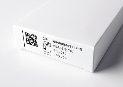 FallerS: Mit Datamatrix kodierte Pharmafaltschachtel