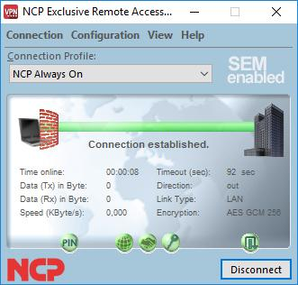NCP Exclusive Remote Access Client