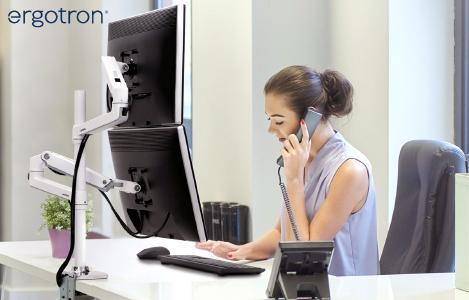 Ergotron LX Arm Dual Halterung bei monitorhalterung.de