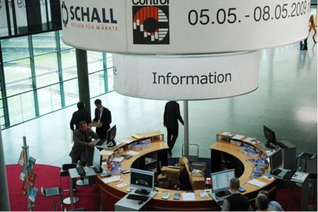 Informationsstand der P.E. Schall GmbH & Co.KG zur Control 2008