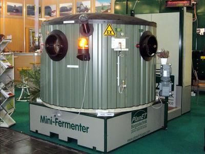 Voll funktionsfähige Mini-Biogasanlage der PlanET Biogastechnik