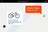 Eines von drei neuen Tools: Der Fahrrad-Finder, der Nutzern genau nach ihrem Fahrverhalten passende Fahrräder vorschlägt.