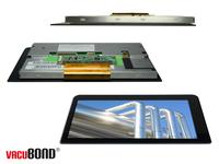 Distec now offers VacuBond(r) Optical Bonding for PCAP-Touch-Displays with an individual cover glass / Copyright: Distec GmbH