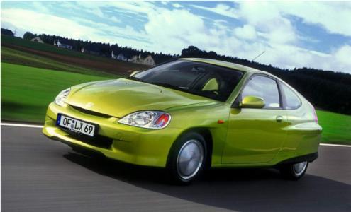 Der Ur-Insight, das erste Hybridfahrzeug auf europäischen Straßen, war seinerzeit das sparsamste benzinbetriebene Auto der Welt