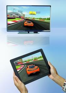 iOS-Geräte können in Verbindung mit dem Apple TV auch Spiele auf Fernsehern wiedergeben
