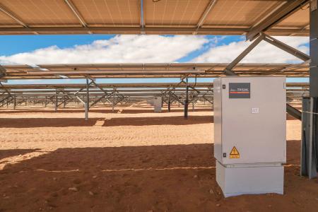 Solar park with Gantner DC Combiner boxes