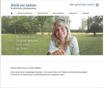 Unter www.astrid-von-lackum.de finden Menschen in schwierigen Lebenssituationen Lösungsimpulse
