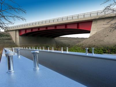 Feuerverzinkte Stahl- und Verbundbrücken können mit Zustimmung im Einzelfall problemlos baurechtlich zugelassen werden