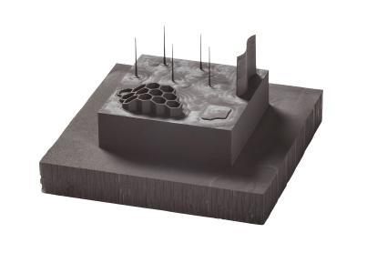 Highlight auf der Moulding Expo: Hochleistungsfräser Graftor® bewältigt das Schruppen und Schlichten von Graphitelektroden / Bildquelle: Hufschmied Zerspanungssysteme