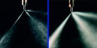 Einspritzdüse vor und nach der Reinigung.