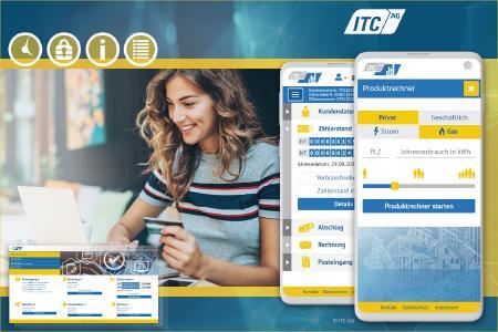 Immer mehr Stadtwerke und Energieversorgungsunternehmen setzen auf professionelle  Portallösungen der ITC AG.