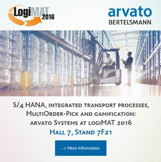 S/4 HANA, integrated transport processes and gamification: arvato Systems at logiMAT 2016 in Stuttgart
