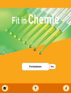 Startscreen Chemie