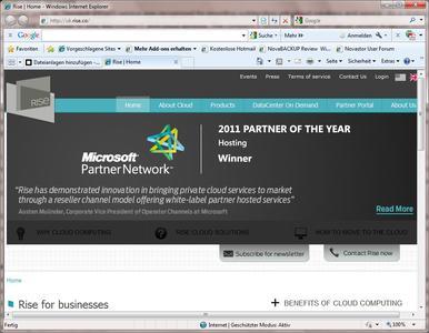 NovaStor Partner, Rise, Wins Microsoft Hosting Solutions Partner of the Year