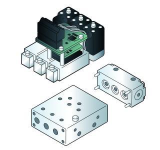 Als ökonomische Plattformlösung mit vorkonfigurierter Gasregelung ist das mehrkanalige System Typ 8735 aus einzelnen Baugruppen zusammengesetzt / Bild: Bürkert Fluid Control Systems
