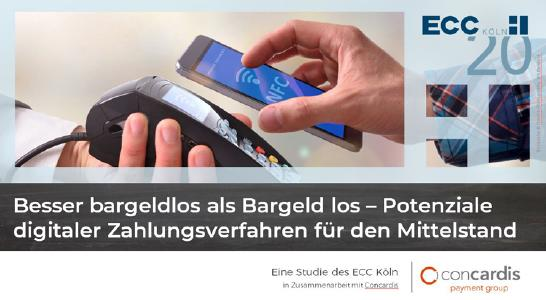 Study by ECC Köln and Concardis: Cashless payment methods enable sSMEs to generate higher sales and increase efficiency.