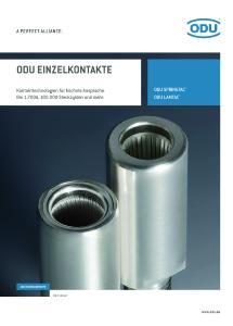 Neuer Produkt-Katalog für ODU elektrische Kontakte