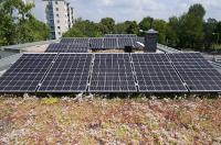 New solar support systems for green roofs from Optigrun