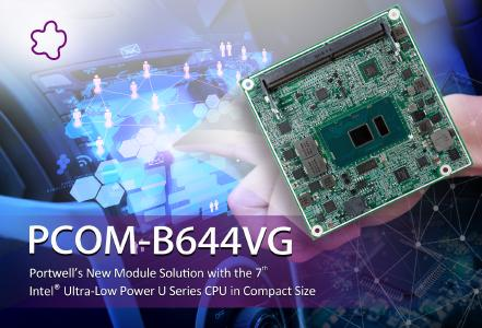Portwell kündigt ein kompaktes Com Express® Modul mit der 7. Generation Intel® Core™ Ultra-Low Power Prozessoren an
