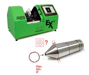 Figure 1 Possible measurement results: maximum, minimum and average inside diameter, runout testing, centricity / concentricity