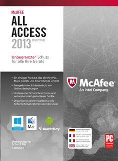 Schützt am PC, Tablet und Smartphone: McAfee All Access