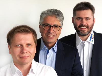 Blicken optimistisch in die Zukunft: Die Geschäftsführer Rolf Lutzer und Saeid Fasihi sowie Prokurist und Chefentwickler Werner Beutel (v.l.) / Foto: Fasihi GmbH
