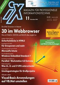 Titelbild der aktuellen iX-Ausgabe 11/2010