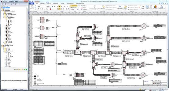 2D Topologie Grafik AUCOTEC
