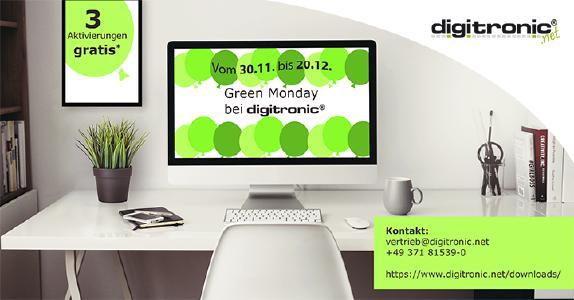 Green Monday Wochen bei digitronic