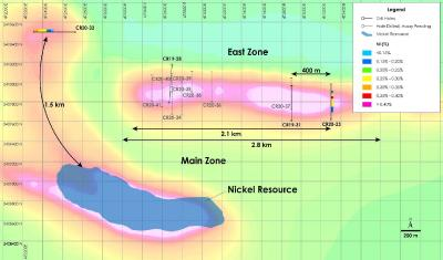 Canada Nickel Announces Extension of Main Zone by 1.5 kilometres and East Zone by 400 metres  at Crawford Nickel-Cobalt-Palladium Project