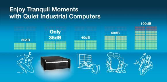 Advantech ist wegweisend bei der Geräuschdämmung mit seinen leisen Industriecomputern