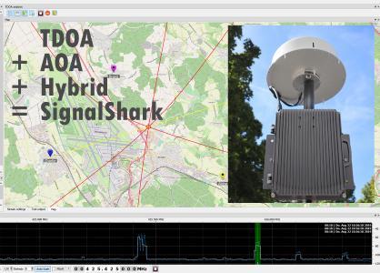 Le nouveau membre de la famille SignalShark, l'unité Outdoor Unit, associé à l'antenne goniométrique automatique ADFA de Narda pour équiper les emplacements de capteurs extérieurs pour la radiosurveillance, y compris la détection des signaux d'interférence selon le principe TDOA ou AOA, ou par le mode hybride mêlant les deux méthodes.