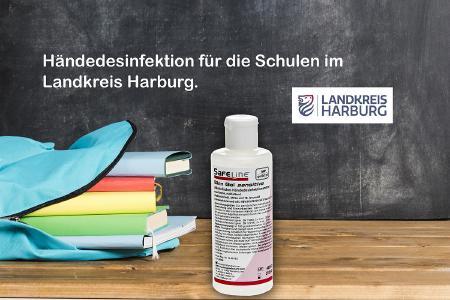 Händedesinfektionsmittel für die Schulen im Landkreis Harburg
