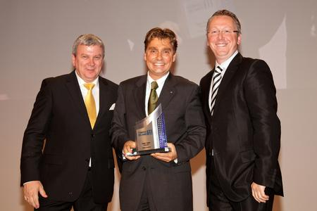 W. Berghofer (CEO B&M Marketing), TECHART CEO T. Behringer, Auto Bild Sportscars Chief Editor O. Schilling