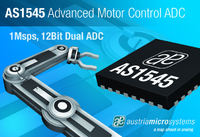 austriamicrosystems' announces dual simultaneous sampling 1MSPS 12-bit ADC