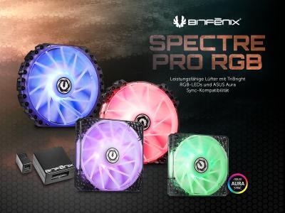 Jetzt bei Caseking - Die BitFenix Spectre Pro RGB Lüfter-Serie mit ASUS Aura-Sync-Kompatibilität