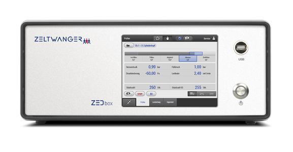 Die ZELTWANGER eigene Neuentwicklung ZEDbox ist eine PC-basierte Steuerung mit  leistungsfähiger Mehrkern–CPU, wie beispielsweise Intel® Core™ i7, und Windows Embedded.