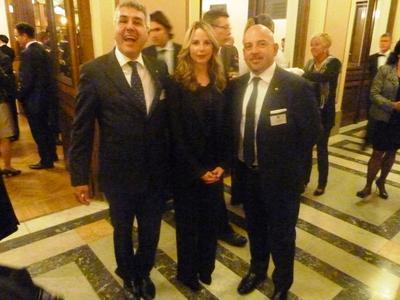Fabrizio Camagnini (Amafond), Carolina Holzhaker (Ediment), Francesco Savelli (Director SAVELLI S.p.A.& President Amafond)