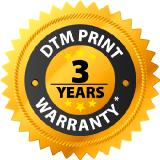 DTM Print offers a 3-years warranty for its label printer and disc publisher division