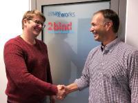 Links Dr. Thomas Schubert (CEO 2bind) und rechts Dr. Ralf Schwandner (CEO Assay.Works) - © Dr. Johannes Knop, privat
