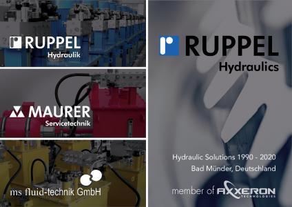 Ruppel Hydraulik wird zu Ruppel Hydraulics member of AXXERON Technologies