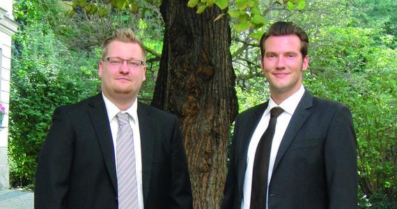 Sebastian Ziebe (links), Johannes Borchert (rechts), die neuen Consultants bei Carano
