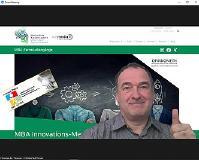 Studiengangsleiter Prof. Dr. Christian Thurnes im OnlineSeminar / Bildquelle: Hochschule Kaiserslautern