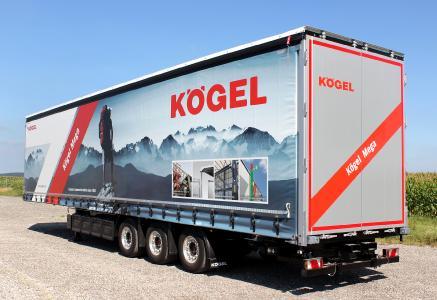 The Kögel Mega with forklift storage