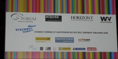 "mauritius images sponserte BCP Kongress 2008 – ""Corporate publishing goes global!"""