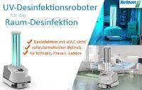 Raum-Desinfektion mit UV-Desinfektionsroboter, Hartmann GmbH