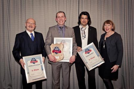 Die Gewinner der ersten drei Plätze beim Dealer's Choice Award
