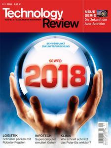 Das Titelbild der aktuellen Technology-Review-Ausgabe 1/2008
